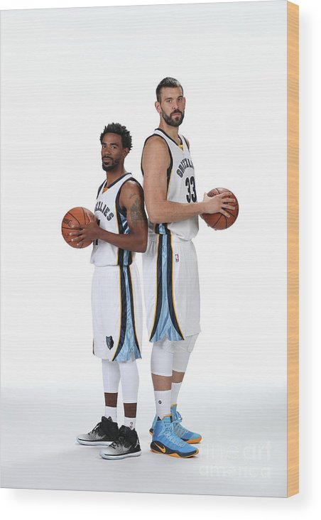 Media Day Wood Print featuring the photograph Mike Conley by Joe Murphy