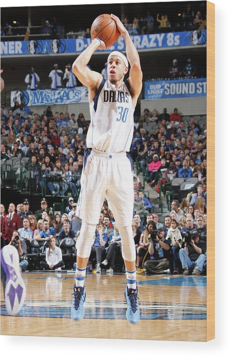 Nba Pro Basketball Wood Print featuring the photograph Seth Curry by Danny Bollinger