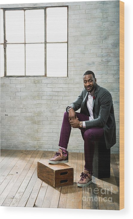 Nba Pro Basketball Wood Print featuring the photograph John Wall by Nathaniel S. Butler