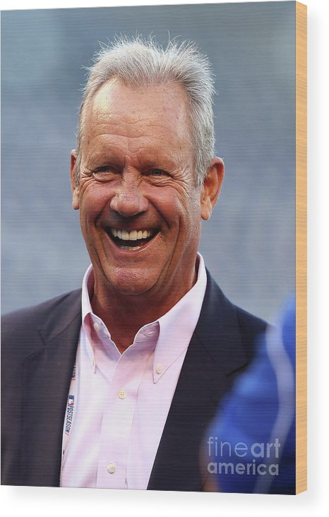 People Wood Print featuring the photograph George Brett by Elsa