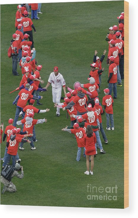 National League Baseball Wood Print featuring the photograph Jayson Werth by Rob Carr