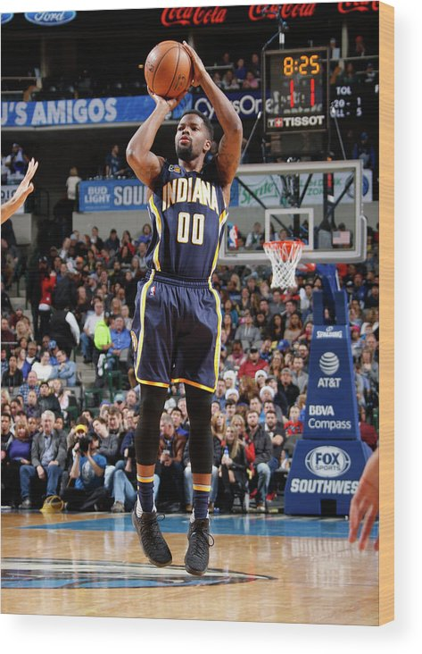 Nba Pro Basketball Wood Print featuring the photograph Aaron Brooks by Danny Bollinger