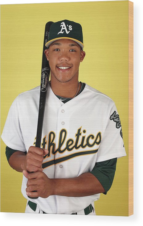 Media Day Wood Print featuring the photograph Addison Russell by Christian Petersen