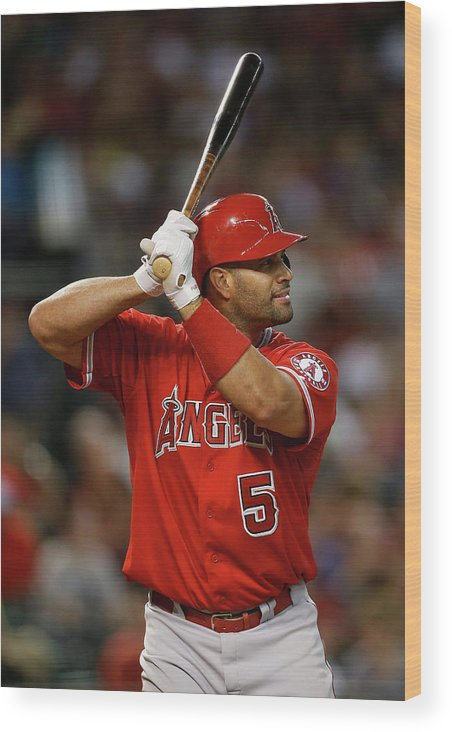 People Wood Print featuring the photograph Albert Pujols by Christian Petersen