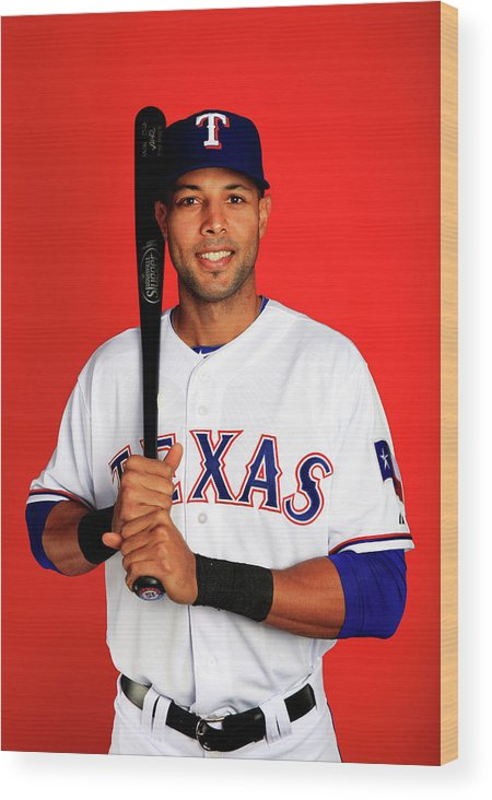 Media Day Wood Print featuring the photograph Alex Rios by Jamie Squire