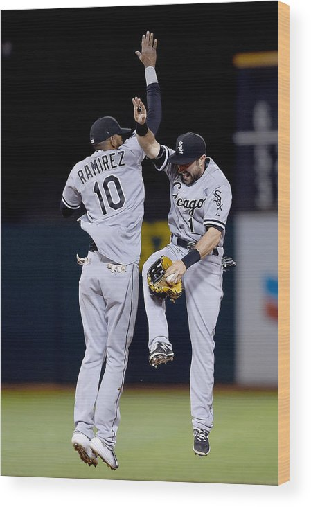 People Wood Print featuring the photograph Alexei Ramirez and Adam Eaton by Thearon W. Henderson