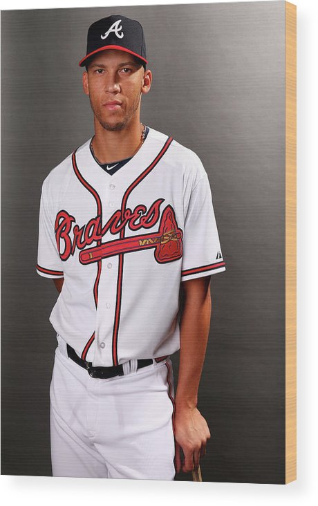 Media Day Wood Print featuring the photograph Andrelton Simmons by Elsa