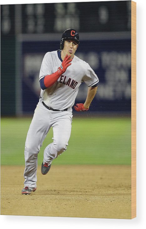 American League Baseball Wood Print featuring the photograph Asdrubal Cabrera by Ezra Shaw