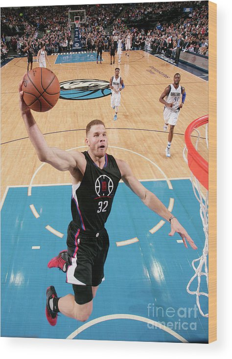 Nba Pro Basketball Wood Print featuring the photograph Blake Griffin by Glenn James