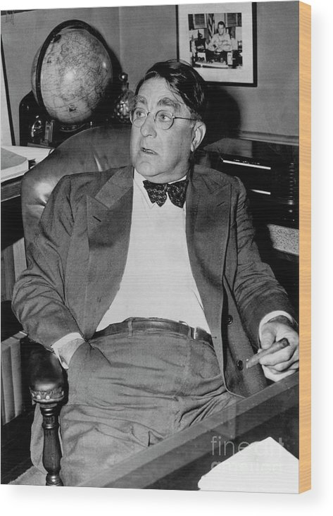 1910-1919 Wood Print featuring the photograph Branch Rickey by National Baseball Hall Of Fame Library