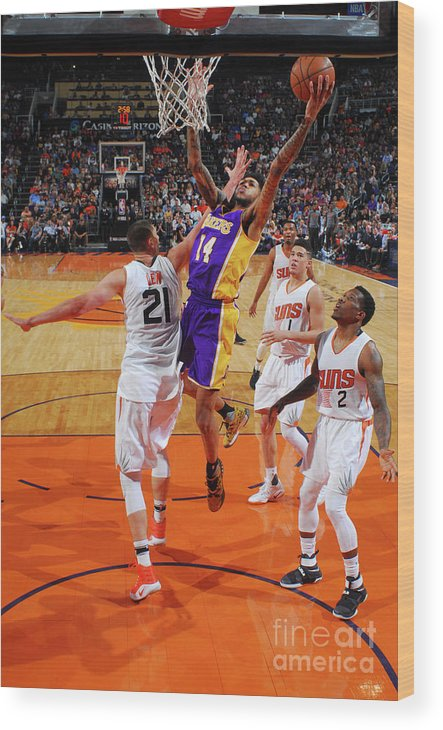 Nba Pro Basketball Wood Print featuring the photograph Brandon Ingram by Barry Gossage