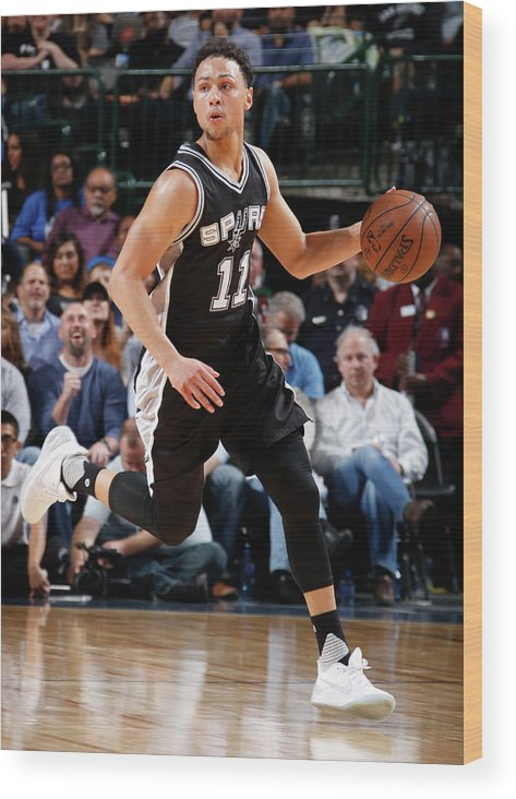 Nba Pro Basketball Wood Print featuring the photograph Bryn Forbes by Glenn James