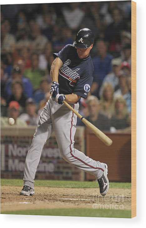 People Wood Print featuring the photograph Chipper Jones by Jonathan Daniel