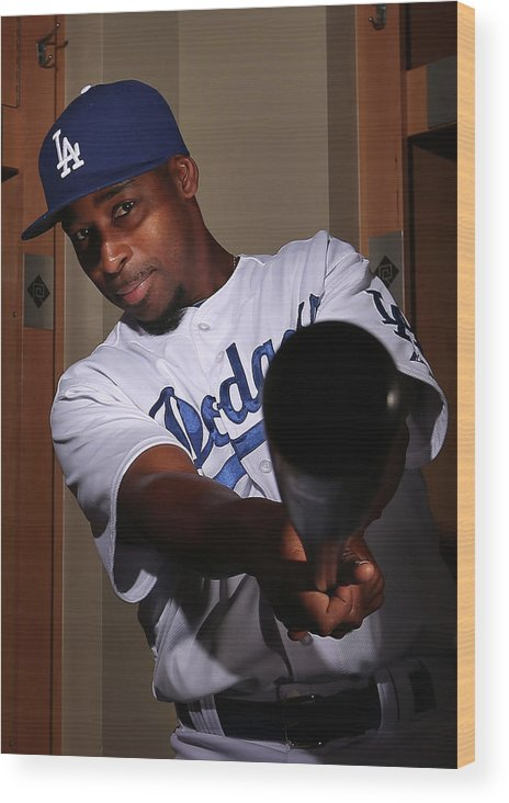 Media Day Wood Print featuring the photograph Chone Figgins by Christian Petersen