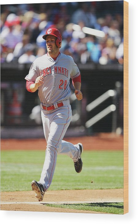 American League Baseball Wood Print featuring the photograph Chris Heisey by Al Bello