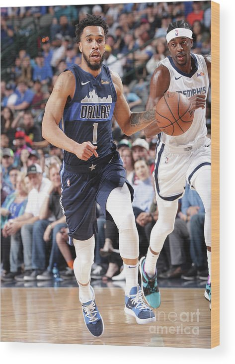 Nba Pro Basketball Wood Print featuring the photograph Courtney Lee by Glenn James