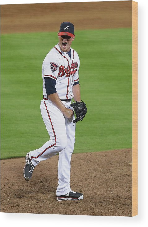 Atlanta Wood Print featuring the photograph Craig Kimbrel by Mike Zarrilli