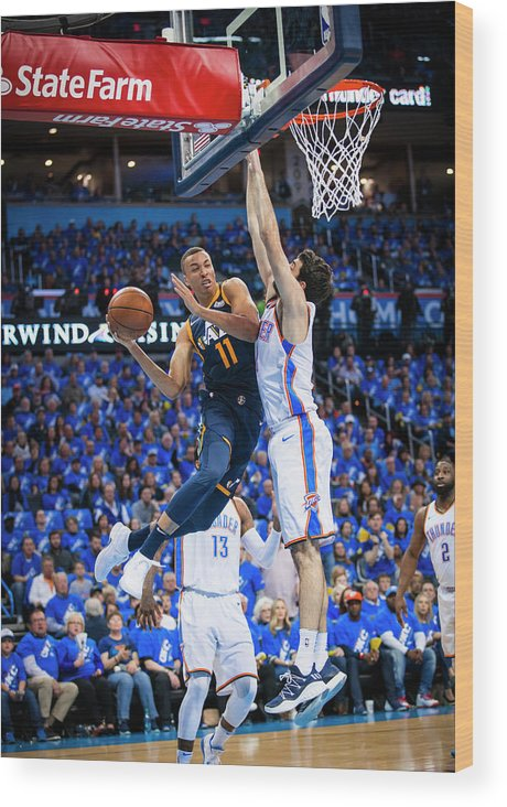 Playoffs Wood Print featuring the photograph Dante Exum by Zach Beeker