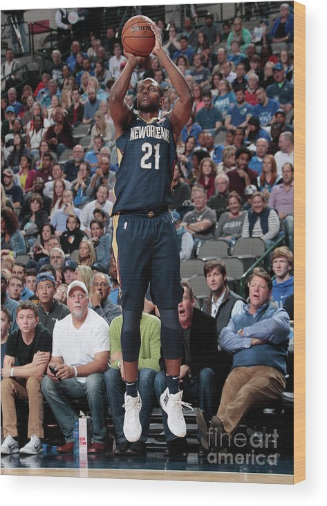 Nba Pro Basketball Wood Print featuring the photograph Darius Miller by Glenn James