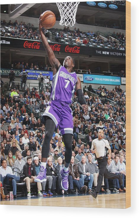 Nba Pro Basketball Wood Print featuring the photograph Darren Collison by Danny Bollinger