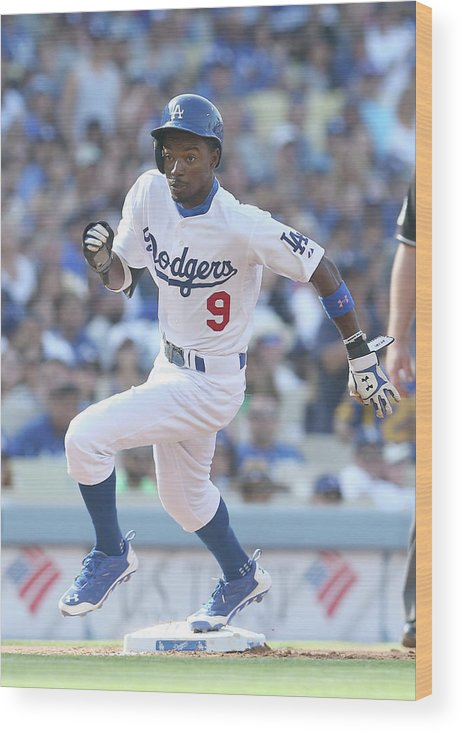 Second Inning Wood Print featuring the photograph Dee Gordon by Stephen Dunn