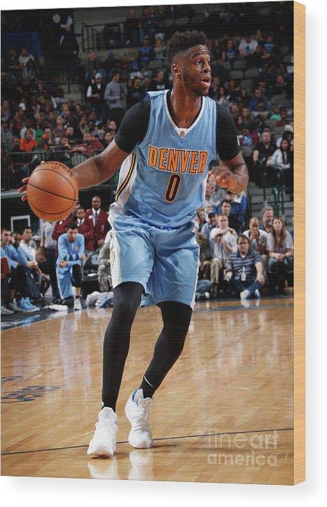 Nba Pro Basketball Wood Print featuring the photograph Emmanuel Mudiay by Glenn James