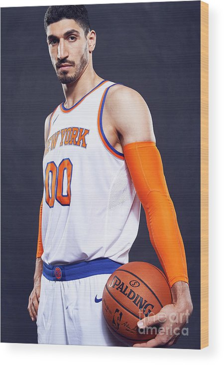 Media Day Wood Print featuring the photograph Enes Kanter by Jennifer Pottheiser