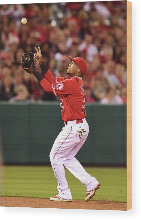 People Wood Print featuring the photograph Erick Aybar by Harry How