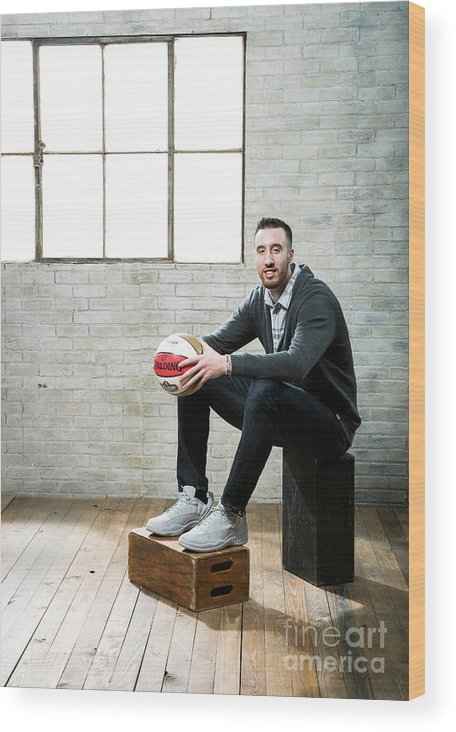 Nba Pro Basketball Wood Print featuring the photograph Frank Kaminsky by Nathaniel S. Butler