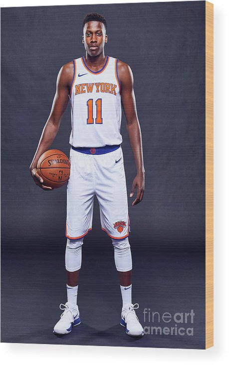 Media Day Wood Print featuring the photograph Frank Ntilikina by Jennifer Pottheiser
