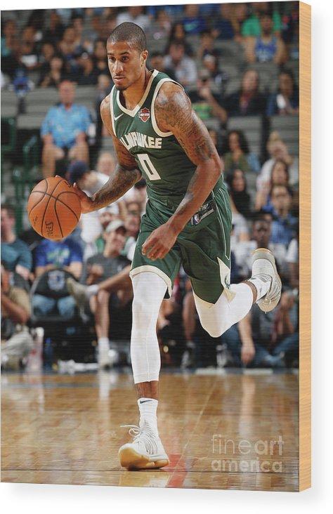 Nba Pro Basketball Wood Print featuring the photograph Gary Payton by Glenn James