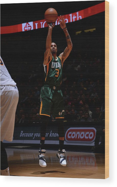Nba Pro Basketball Wood Print featuring the photograph George Hill by Bart Young