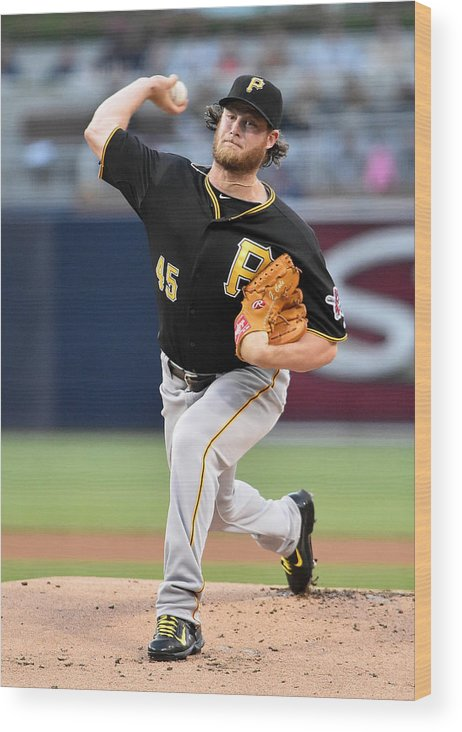 Gerrit Cole Wood Print featuring the photograph Gerrit Cole by Denis Poroy