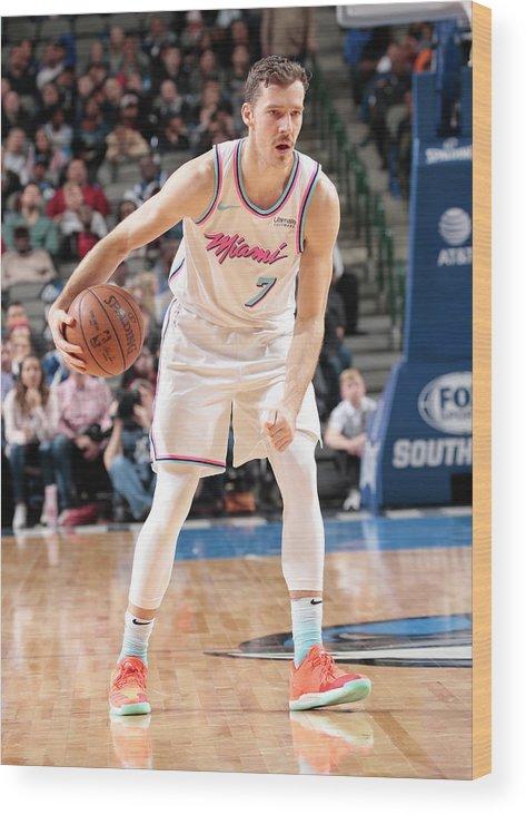 Nba Pro Basketball Wood Print featuring the photograph Goran Dragic by Glenn James