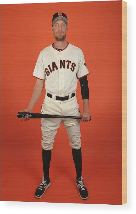 Media Day Wood Print featuring the photograph Hunter Pence by Christian Petersen