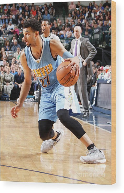 Nba Pro Basketball Wood Print featuring the photograph Jamal Murray by Danny Bollinger