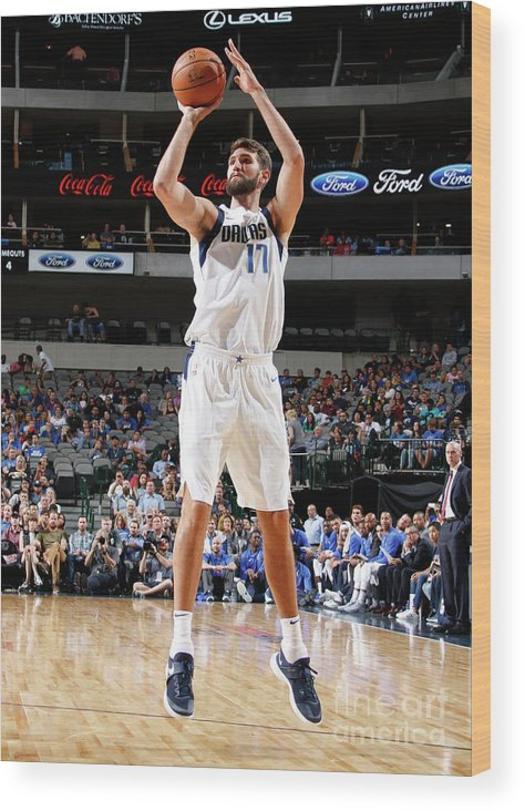 Nba Pro Basketball Wood Print featuring the photograph Jeff Withey by Danny Bollinger
