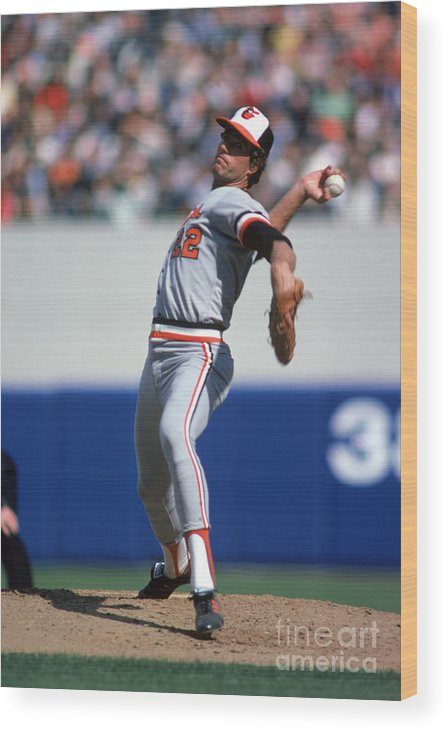 American League Baseball Wood Print featuring the photograph Jim York by Rich Pilling