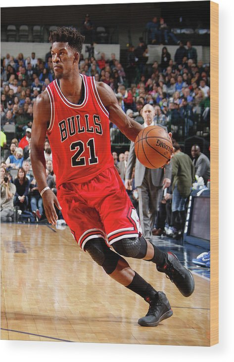 Nba Pro Basketball Wood Print featuring the photograph Jimmy Butler by Danny Bollinger