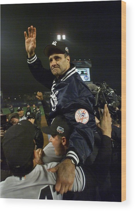 Celebration Wood Print featuring the photograph Joe Torre by Jed Jacobsohn