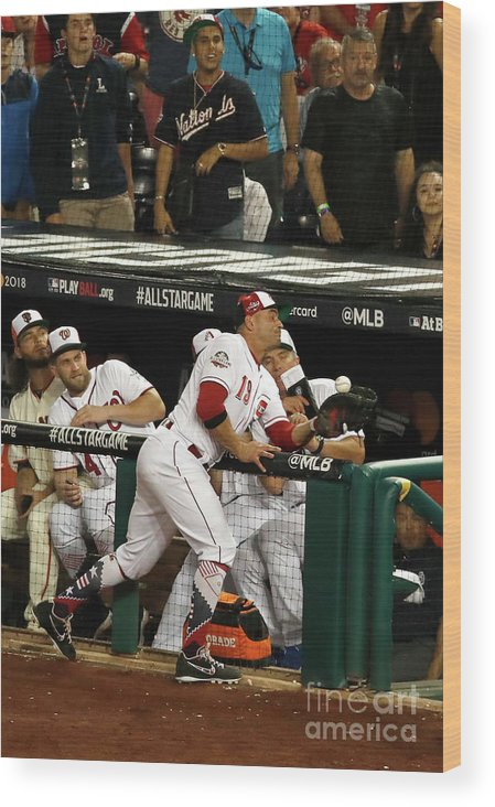 People Wood Print featuring the photograph Joey Votto by Patrick Mcdermott