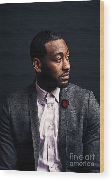 Event Wood Print featuring the photograph John Wall by Jennifer Pottheiser