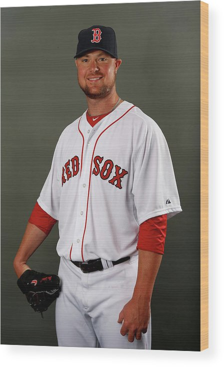 Jon Lester Wood Print featuring the photograph Jon Lester by Elsa