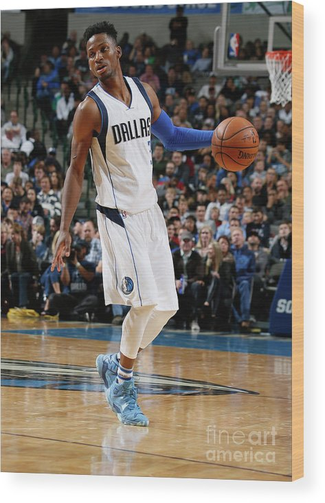 Nba Pro Basketball Wood Print featuring the photograph Jonathan Gibson by Danny Bollinger
