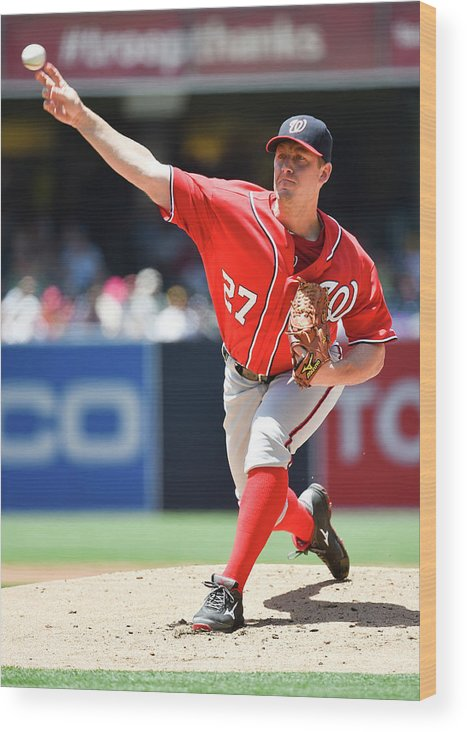 Second Inning Wood Print featuring the photograph Jordan Zimmermann by Denis Poroy