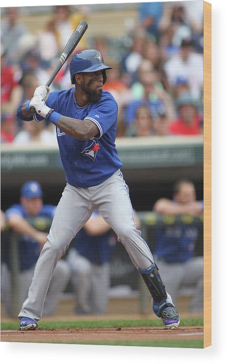 American League Baseball Wood Print featuring the photograph Jose Reyes by Andy King