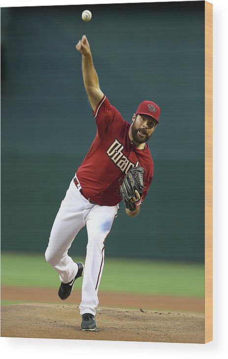 Baseball Pitcher Wood Print featuring the photograph Josh Fields by Christian Petersen