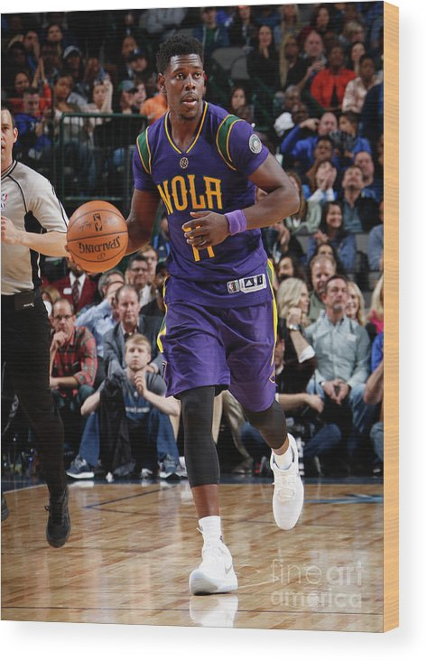 Nba Pro Basketball Wood Print featuring the photograph Jrue Holiday by Glenn James