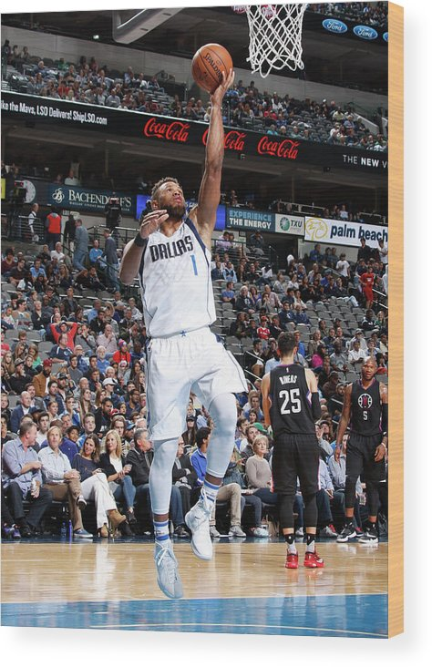 Nba Pro Basketball Wood Print featuring the photograph Justin Anderson by Danny Bollinger