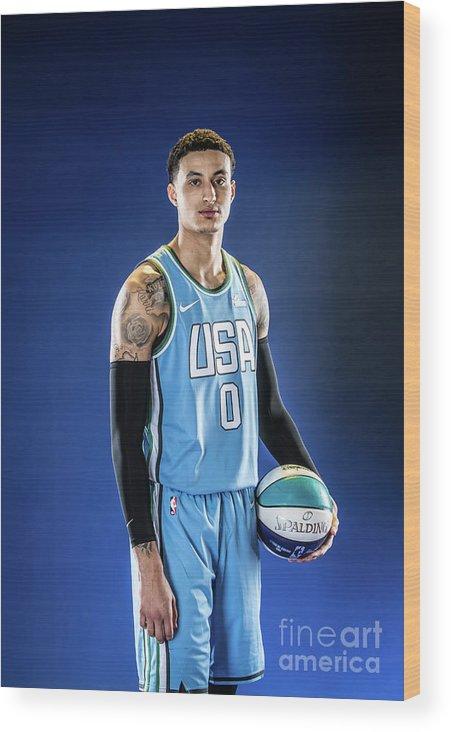 Nba Pro Basketball Wood Print featuring the photograph Kyle Kuzma by Michael J. Lebrecht Ii